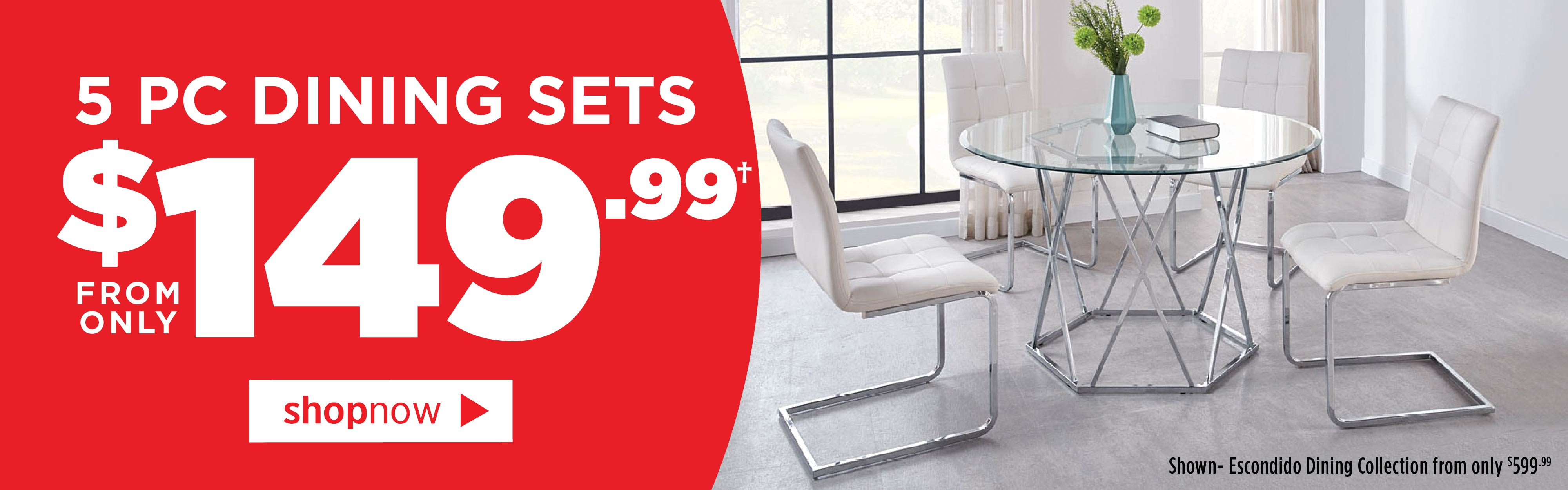 5-pc. Dining Sets from only $149.99
