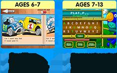Spelling, Comprehension, E-books, Live games