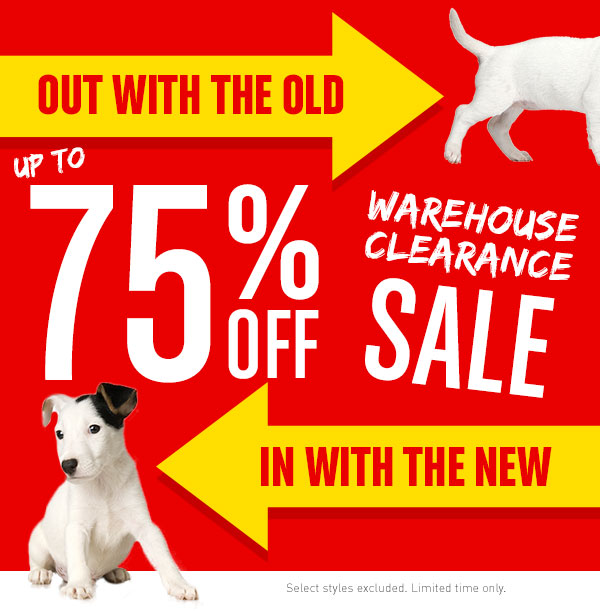 Up to 75% Off Warehouse Clearance