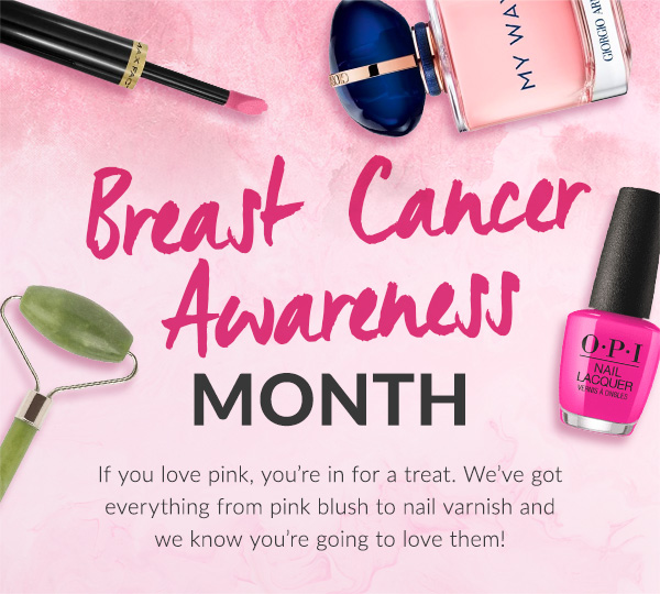 Breast Cancer Awareness Month. If you love pink, you're in for a treat. We've got everything from pink blush to nail varnish and we know you're going to love them!