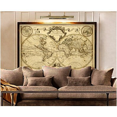 L''Isle''s 1720 Old World Map Historic Map Antique Style World Map Guillaume de L''Isle mappe monde Wall Map Vintage Map Home Decor