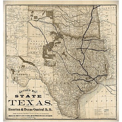 Old Map of Texas 1876 Vintage Historical Wall map Antique Restoration Hardware Style Map Texas state Map Texas Map Texas Wall Art Fine Print