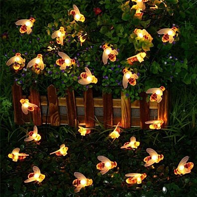 20 Honey Bee Fairy LED String Lights for Outdoors