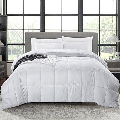 Lightweight Down Alternative Comforter, Duvet Insert, White