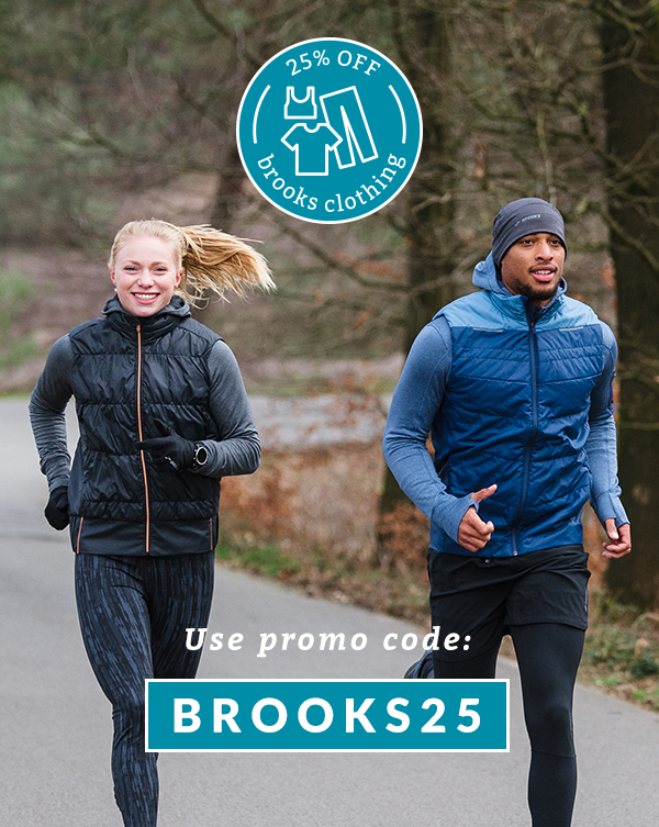 25% Off Brooks Clothing with promo code BROOKS25