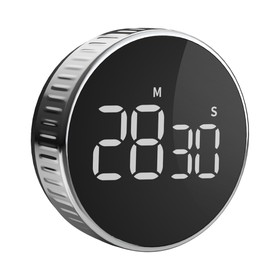 Homimin Round Magnetic Timer LCD Display Beep Alarm