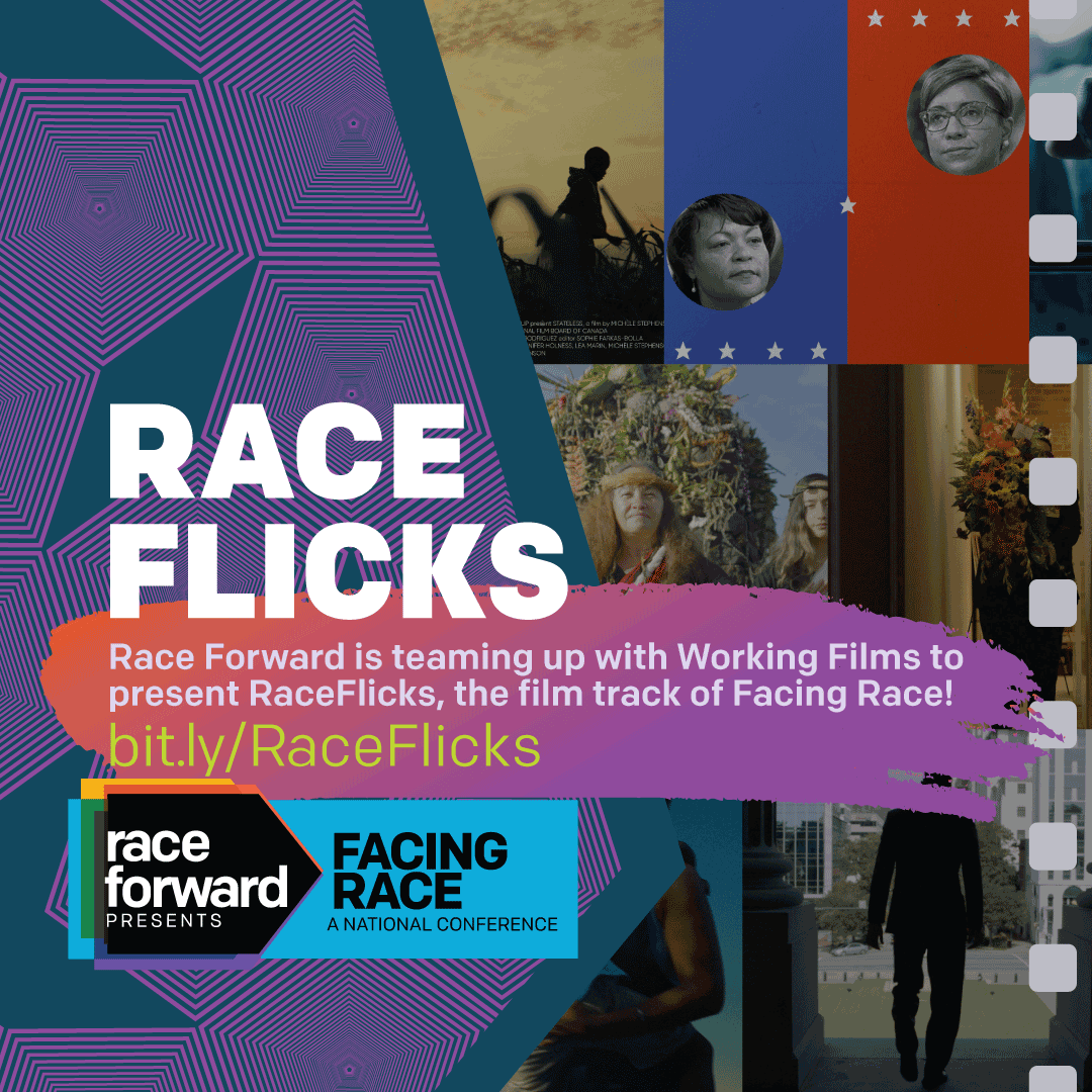 intriguing photo collage of the many films that will screen at Facing Race