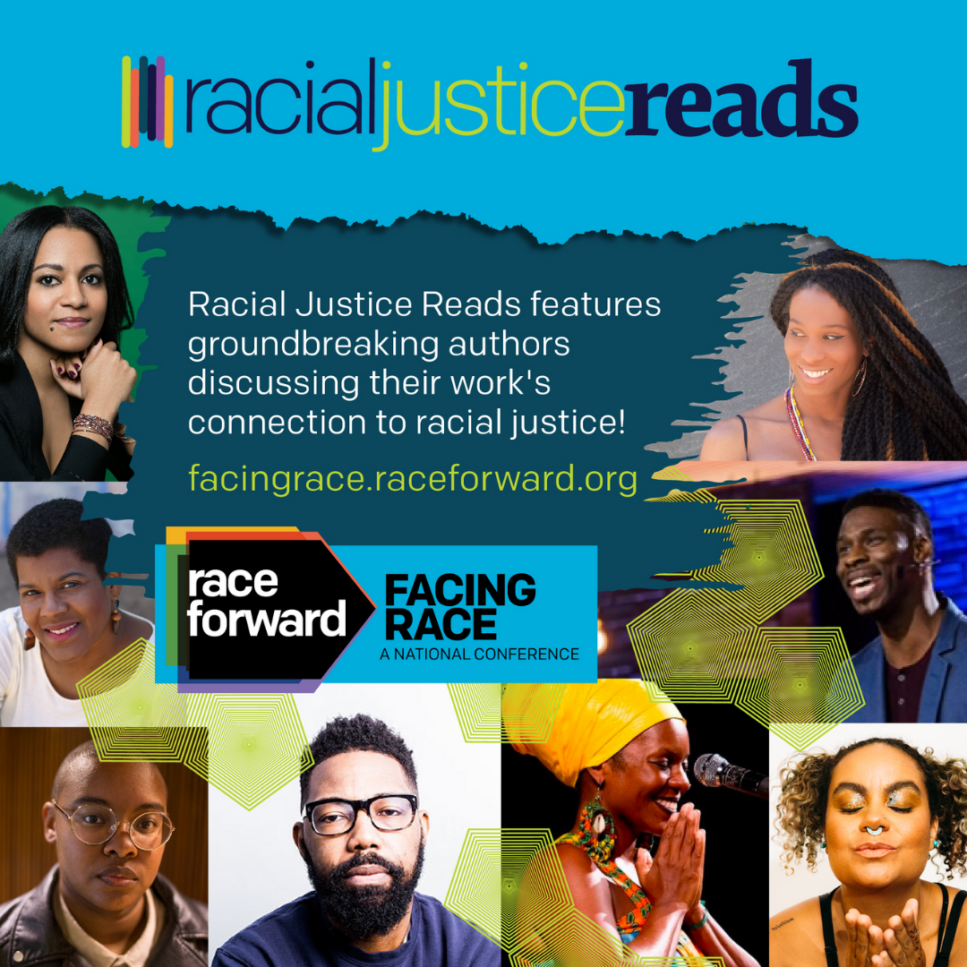 Visualization of the compelling authors who will participate in Racial Justice Reads this year at Facing Race