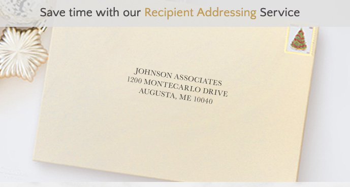 Save time with our Recipient Addressing Service