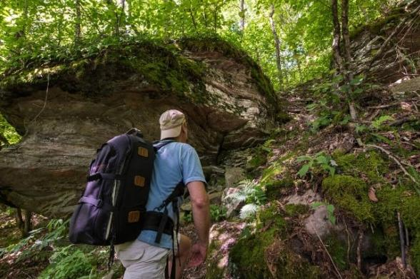 A hiker in New York State
