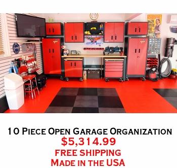 10 Piece Open Garage Organization