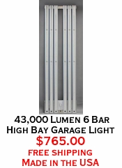 43,000 Lumen 6 Bar High Bay Garage Light