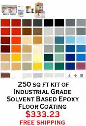 250 sq ft kit of Industrial Grade Solvent Based Epoxy Floor Coating