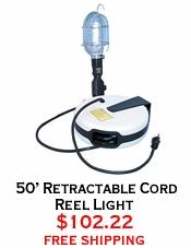 50' Retractable Cord Reel Light