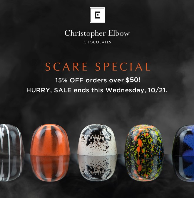 Scare Special - 15% off orders over $50 starts now.