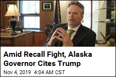 Amid Recall Fight, Alaska Governor Cites Trump