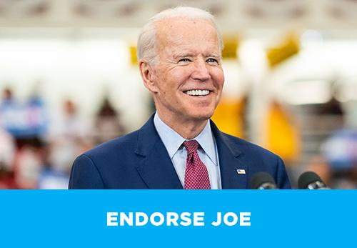 Endorse Joe Biden today!