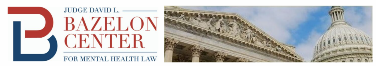 Judge David L. Bazelon Center for Mental Health Law logo with Supreme Court and Capitol
