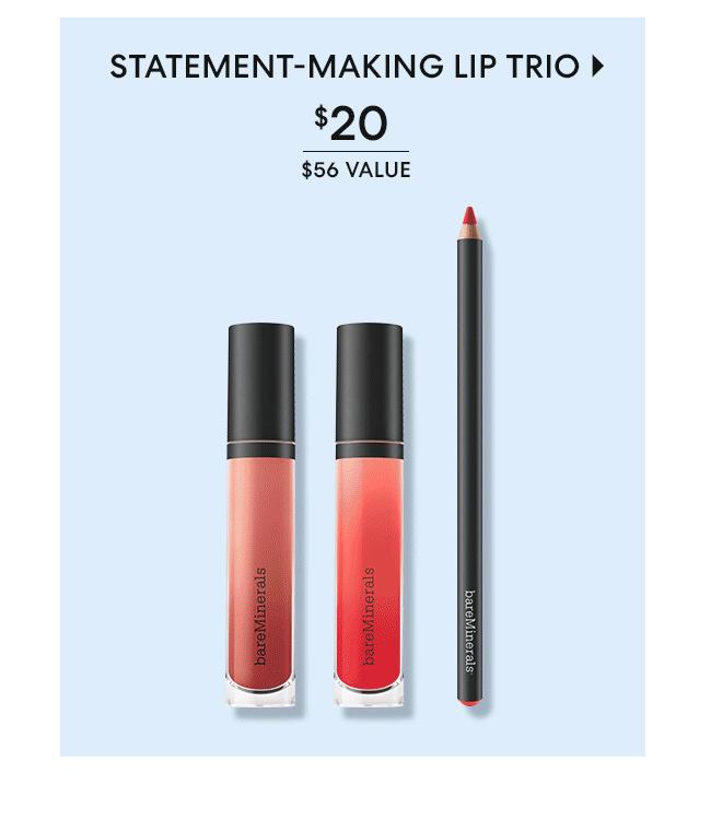 Statement-making Lip Trio - $20 - $56 Value - Shop Now