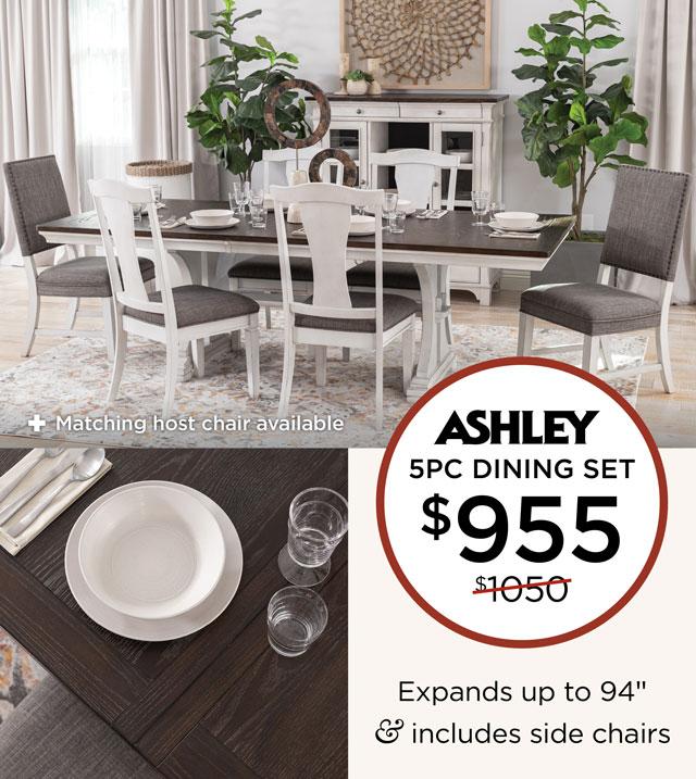 Ashley - 5PC Dining Set - $955