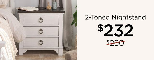 2-Toned Nightstand - $233