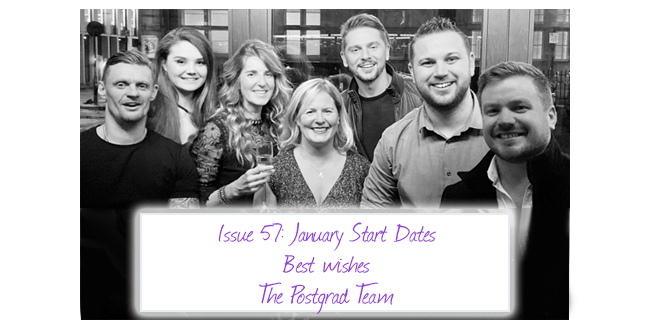 ISSUE 57: January Start Dates