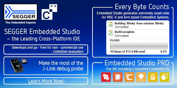 SEGGER Embedded Studio cross platform IDE