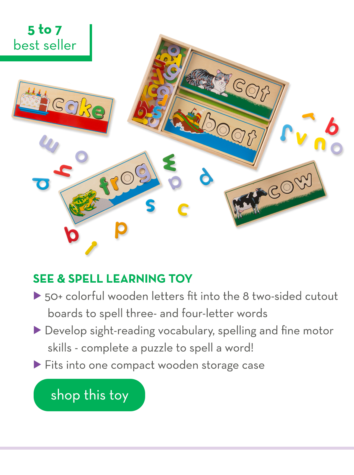 5 to 7 - See & Spell Learning Toy