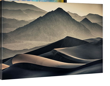 Mesquite Sand dunes in Death Valley National Park at sunrise by Scott Stulberg