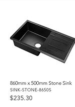 860mmx500mm Stone Sink