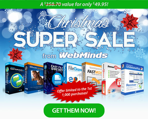 $358.70 value for $49.95! Christmas Super Sale from WebMinds