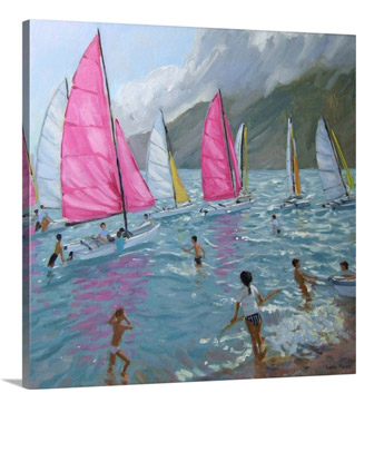 Pink And White Sails, Lefkas