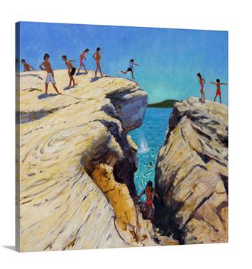 Jumping off the Rocks, Plates, Skiathos, 2015