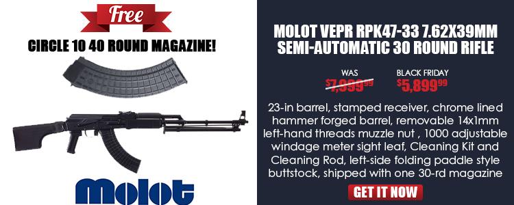 Vepr RPK-47,7.62x39, 23.2 in barrel, black furniture, left-side folding RPK-style buttstock, 14mm LH