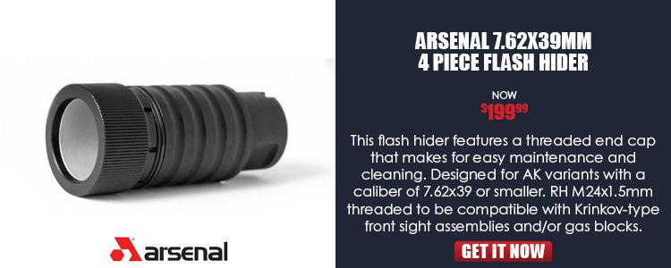 Flash hider, 4pc design, for 7.62x39, 5.45x39, and 5.56x45, 24x1.5mm RH threads, Arsenal Bulgaria