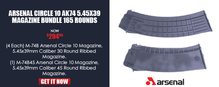 Arsenal Circle 10 AK74 5.45x39 Magazine Bundle 165 Rounds