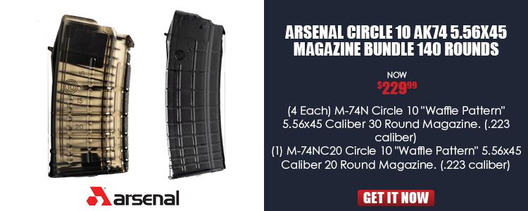 Arsenal Circle 10 AK74 5.56x45 Magazine Bundle 140 Rounds