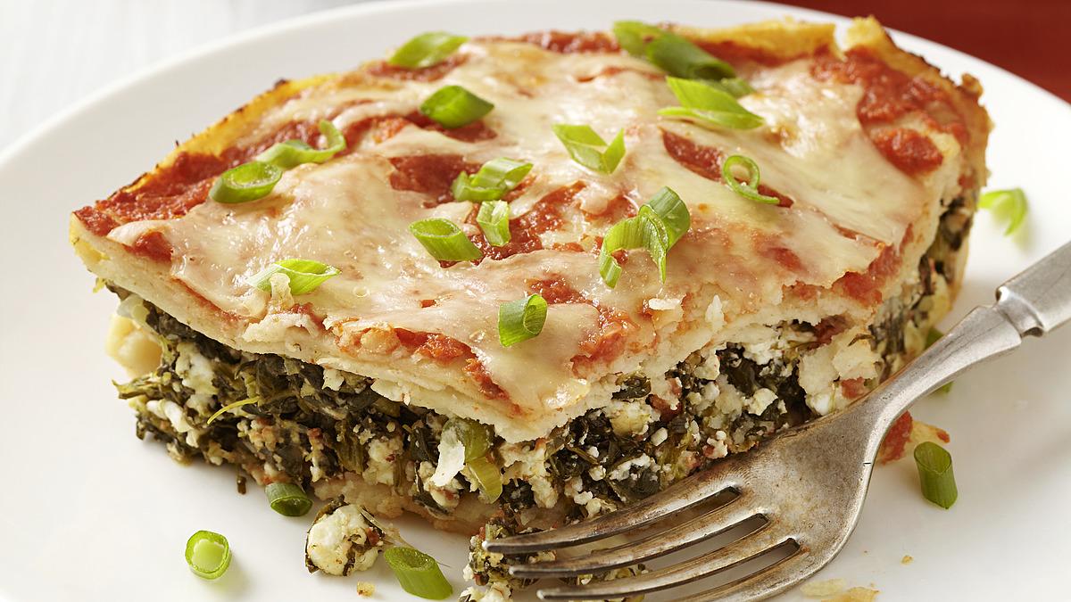 Vegetarian spinach enchiladas