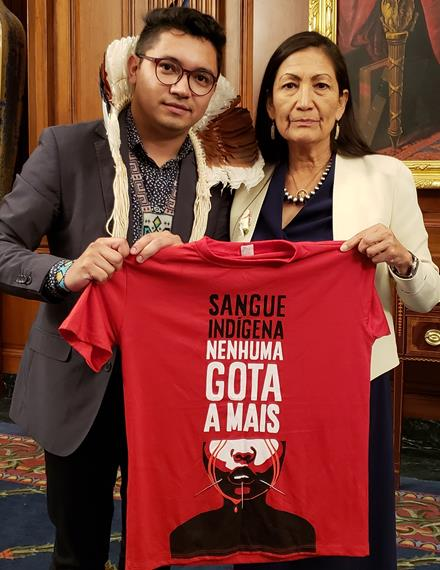 Indigenous blood - not one more drop; Eloy and Rep Haaland
