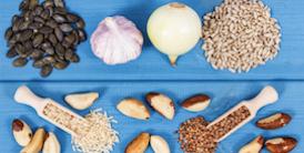 Assortment of fiber rich foods - image