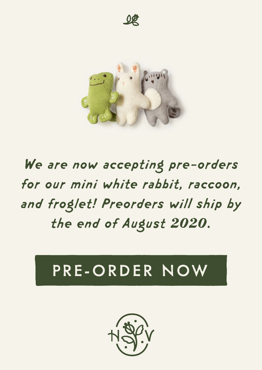 pre-order mini animals