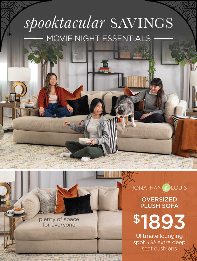 JLO - Oversized Plush Sofa