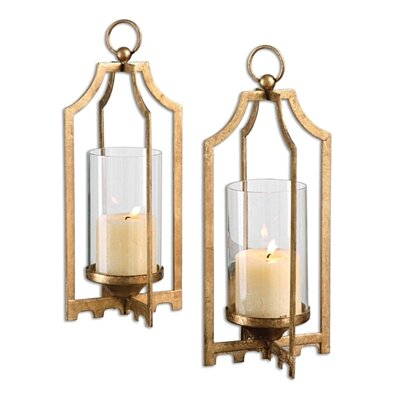 Uttermost Lucy Gold Candleholders Set 2