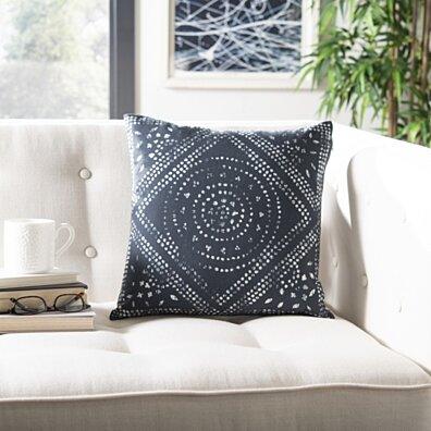 Mallory Pillow Deep Blue / White