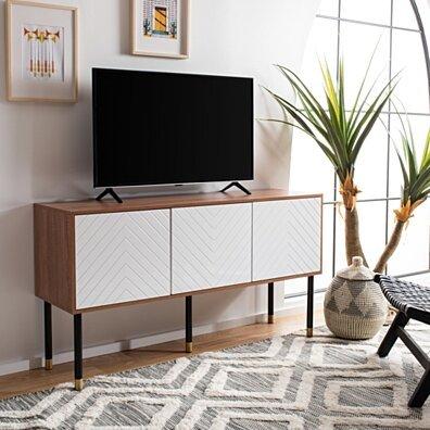 Oakley TV Stand Natural / White
