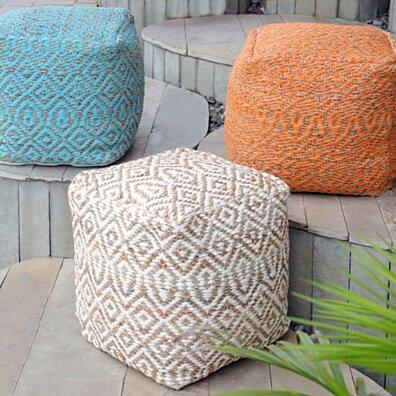 Bangla Artisan Fabric Cube Pouf