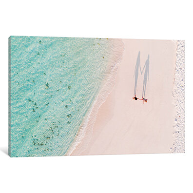 Hand In Hand On The Beach, Maldives by Matteo Colombo Canvas Print