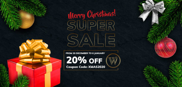 Christmas Sale - 20% off on all WordPress themes