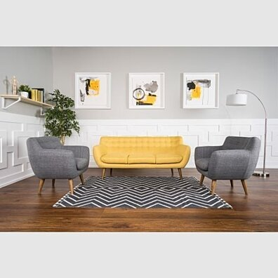 Rhodes 3 Piece Sofa and Accent Chairs