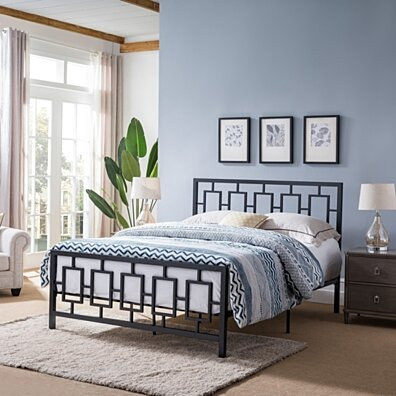 Dawn Modern Iron Queen Bed Frame